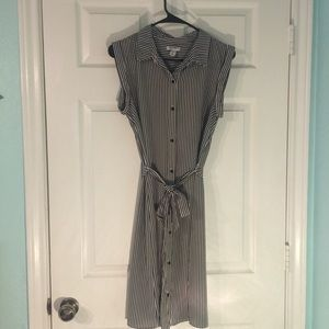 Old Navy Striped Shirt Dress with Tie